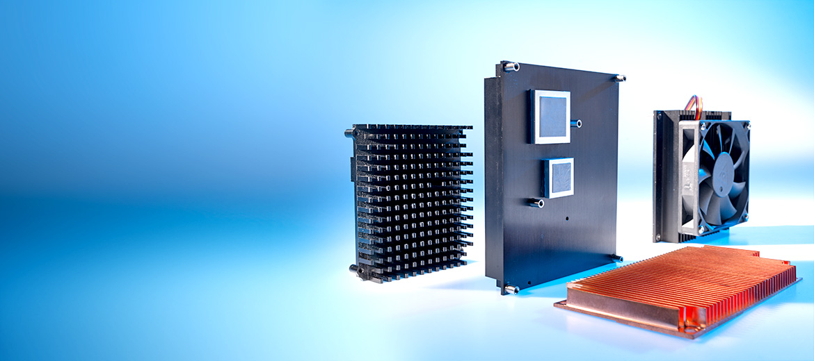 Embedded heat sinks for efficient